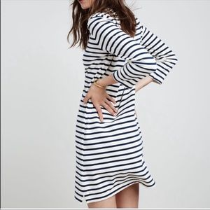 Madewell 3/4 Nautical Stripe Dress